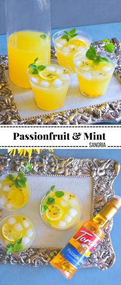 Passionfruit and Mint Sangria: #passionfruit #sangria #MyToraniSummer #ad @ToraniFlavor @walmart