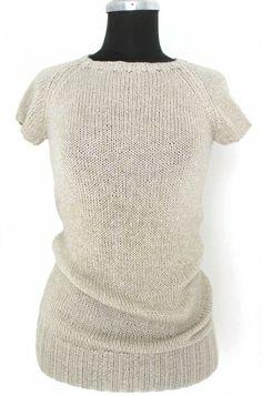 handknitted Shirt  handgestricktes Shirt mit Cashmere- und Lurexanteil