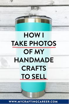 These are the exact supplies I buy, setup I use, and edits I make to take photos of my crafts to sell online. If you have a craft business, this is an essential photo guide to help you take better photos of your handmade creations. #mycraftingcareer #etsytips #craftbusiness #photographytips