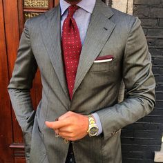 """violamilano: """"@vincent_frederiks wearing a Viola Milano """"Red Multifloral"""" silk tie & """"Red Border"""" linen pocket square… Find it online today with world wide express shipment! www.violamilano.com #vm..."""