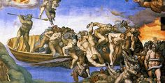 the last judgment michelangelo hell - Google Search
