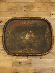 Vintage Painted Serving Tray