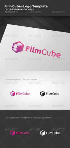 Film Cube  - Logo Design Template Vector #logotype Download it here: http://graphicriver.net/item/film-cube-logo-template/1437023?s_rank=207?ref=nesto