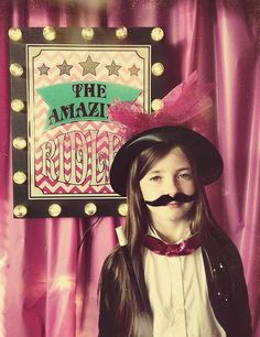 Love this PHOTOBOOTH at a Girly Magic Party with Lots of Cute Ideas via Kara's Party Ideas | KarasPartyIdeas.com #Magic #GirlParty #PartyIdeas #PartySupplies #photobooth