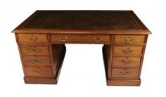 mahogany leather topped desk... want one...