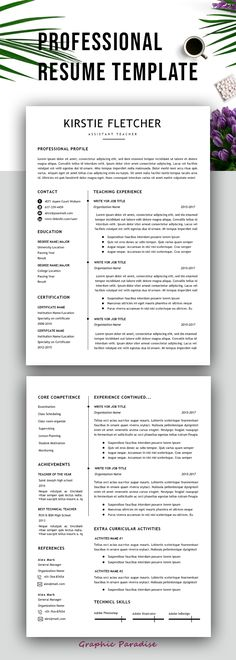 Resume TemplateProfessional Resume TemplateResume Template Word