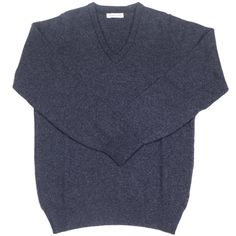 Lambswool V-Neck - Charcoal | Howard Yount