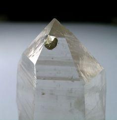 Pyrite inclusion in quartz
