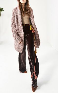 bab373f3f1ef These   Ulla Johnson   pants are rendered in velvet and feature a high