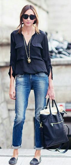 Jeans and blouse