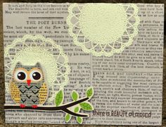 """Created By: Megan Aaron - Thoughts of Scrapbooking - Brand NEW Release 9.12.2012 Vintage Doily Shop BRAND NEW from MY LITTLE SHOEBOX. Inspired by the My Little Shoebox """"Vintage Shop"""" Release. CLICK HERE to purchase: http://www.unitystampco.com/product/1754-vintage-doily-shop.aspx"""