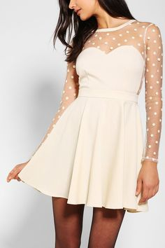 coincidence & chance polka dot mesh dress