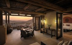 Ranked in Travel & Leisure's 45 Best New Hotels of 2010, Qasr Al Sarab by Anantara proves that the desert truly beckons. This dreamlike retreat is located in the legendary Liwa Desert in the Empty Quarter of Abu Dhabi, the largest uninterrupted sand desert in the world. In addition to relishing in the resort's luxurious offerings, guests are encouraged to explore the vast landscapes and the adjoining 9,000-square kilometre protected wildlife reserve.