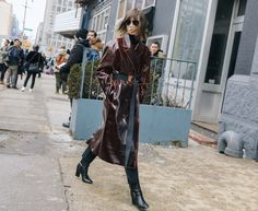 48bdc6275212 Anya Ziourova in PIERRE HARDY boots during the NYC Fashion Week - Février  2017  PierreHardy