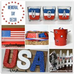 9 Patriotic Projects shared at Project Inspire{d}, perfect for Memorial Day and of July. Tons of inspiring red, white and blue ideas! Patriotic Crafts, July Crafts, Holiday Crafts, Holiday Fun, Holiday Ideas, Holiday Parties, Memorial Day Decorations, 4th Of July Decorations, Holiday Decorations