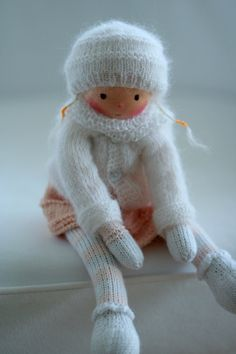 Waldorf knitted doll Beatrix 13 by Peperuda by danielapetrova