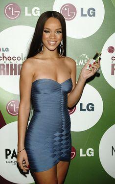 Rihanna Dress, Rihanna Outfits, Rihanna Riri, Young Rihanna, 2000s Fashion, Fashion Outfits, Heidi Powell, Herve Leger Dress, Old Dresses