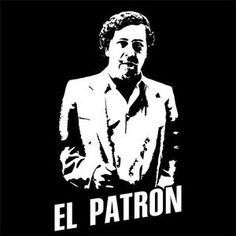 "Képtalálat a következőre: ""pablo escobar"" Pablo Emilio Escobar, Pablo Escobar, Narcos Escobar, Mafia Gangster, Dope Art, Coke, Black And White, T Shirt, Fictional Characters"