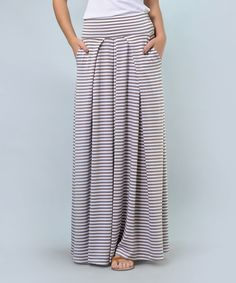 Look at this #zulilyfind! Lila Kass Mocha Stripe Maxi Skirt - Plus Too by Lila Kass #zulilyfinds