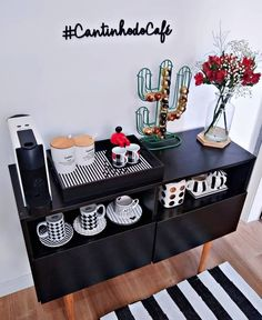 Coffee Corner Kitchen, Coffee Nook, Coffee Bar Home, Home Coffee Stations, Modern Bedroom Decor, Home Room Design, Pink Room, Diy Party Decorations, Cafe Bar