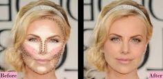 """Képtalálat a következőre: """"square face contour"""" Beauty Makeup, Hair Makeup, Hair Beauty, Square Face Makeup, Face Contouring, Square Faces, I Feel Pretty, Just The Way, Beauty Hacks"""