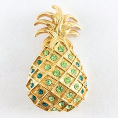 Vintage Figural Rhinestone Pineapple Brooch or Pin Super cute and colorful pineapple brooch with pretty rhinestones. Excellent condition Vintage Jewelry Brooches