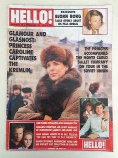 Hello Magazine 40 1989 Jane Fonda Bjorn Borg Princess Caroline Annie Lennox 80s…