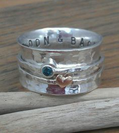 Little Sweetheart wide band spinning or worry ring by BreigeKing