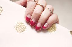 Valentine's Heart Nail Art