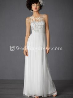 Beautiful Tulle Summer Wedding Gown with Embroidery BC665
