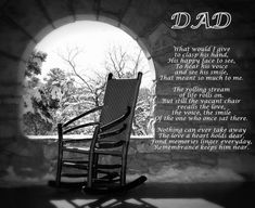 Missing Dad Poem Dad's Empty Chair Remembering Dad Poem For Dad Empty Chair Poem In Remembrance Love Empty Chair Poem, The Empty Chair, Sympathy Poems, Sympathy Gifts, Miss You Dad, Love Dad, Loss Of Dad, Dad Poems, Remembering Dad