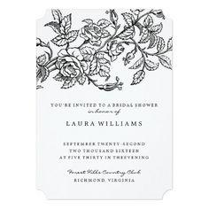 Vintage Rose Bridal Shower Tea Invitation Template