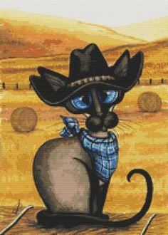 Hey, I found this really awesome Etsy listing at https://www.etsy.com/listing/127946960/modern-cat-cross-stitch-kit-by-amylyn