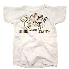 DENIM DUNGAREE(デニム&ダンガリー):ビンテージテンジク SMILE ACADEMY Tシャツ 1W白 の通販【ブランド子供服のミリバール】