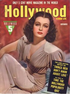 Joan Bennett on the cover of Hollywood, November 1939 | by Silverbluestar