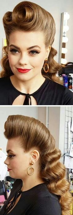 39 Trendy Vintage Wedding Hairstyles Updo Victory Rolls – Whoville Hair – – - New Pin 1940s Hairstyles, Wedding Hairstyles, Pin Up Hairstyles, Grease Hairstyles, Whoville Hair, Pelo Retro, Retro Wedding Hair, Wedding Vintage, Wedding Updo