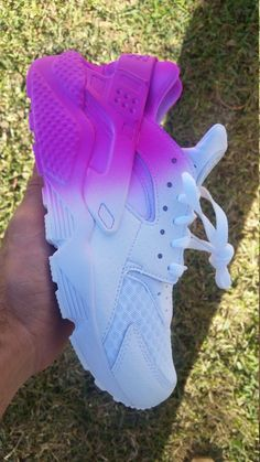 Custom Nike Air Huaraches 5-7 are boys 8-13 are men by DonnCustoms  How many colors do you see?