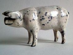 Middle White pig in raku