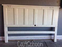 old door headboard - king bed                                                                                                                                                                                 More (Kids Wood Crafts Beds)