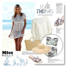 """Beach ready"" by vanjazivadinovic ❤ liked on Polyvore featuring moda, Chicnova Fashion, River Island, Merona, Nordstrom, beachstyle, polyvoreeditorial y missholly"