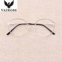 Vazrobe Transparent Glasses Frame Women Rim+Alloy Temple Clear Eyeglasses Frames for Female Spectacles Prescription Fashion Cool Glasses, New Glasses, Glasses Online, Womens Prescription Glasses, Womens Glasses, Transparent Glasses Frames, Clear Eyeglass Frames, Eyeglasses For Women, Frames