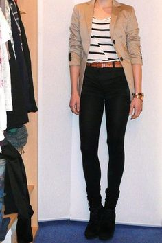 if you want your legs to look longer, wear black high-waisted jeans with black boots