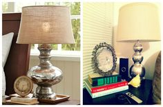 DIY mercury lamp. - The Pottery Barn version is over $200, so I think it will be a DIY night!!!