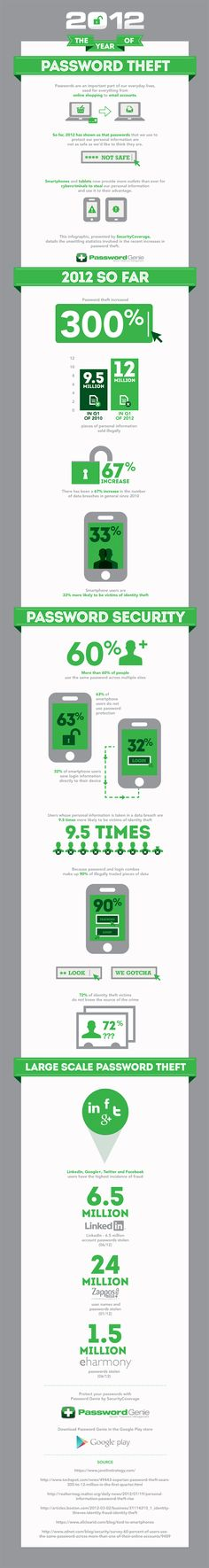 2012: The year of the Password Theft Infographic