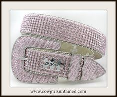 HIGH QUALITY COWGIRL GLAM BELT Beautiful Pink Rhinestone and Buckle Belt  #belt #pink #silver #rhinestone #crystal #wedding #cowgirl #western #rodeo #style #fashion #boutique #beautiful #ladies #onlineshopping #wholesale #cowgirlsuntamed #pastel