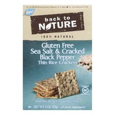 No artificial preservatives, flavors or colors. No hydrogenated oils. 100% natural. Since 1960. Gluten free. Certified Gluten-free. Brown rice, sea salt & c