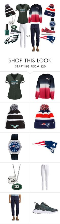 """Super Bowl LII Couple Outfits!!!!!"" by tsion-kebede14 ❤ liked on Polyvore featuring Fanatics, '47 Brand, Game Time, Barbour International, Tallia Orange, NIKE, couples, mn and superbowl"