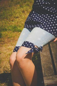 ... eine pfiffige Sommershort wird! Wir Mütter kennen ja alle das Problem: Jeans, die eigentlich noch passen würden, sind an den Knien...