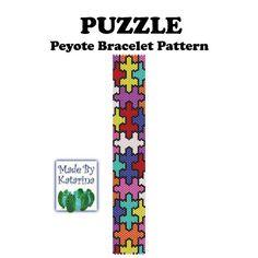 Puzzle  Peyote Stitch Bracelet