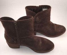 Ugg Boot Darling Seaweed Perf Bootie Brown Suede Size 5.5 #UGGAustralia #Booties #Casual